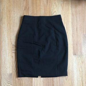 Black knee length suit skirt